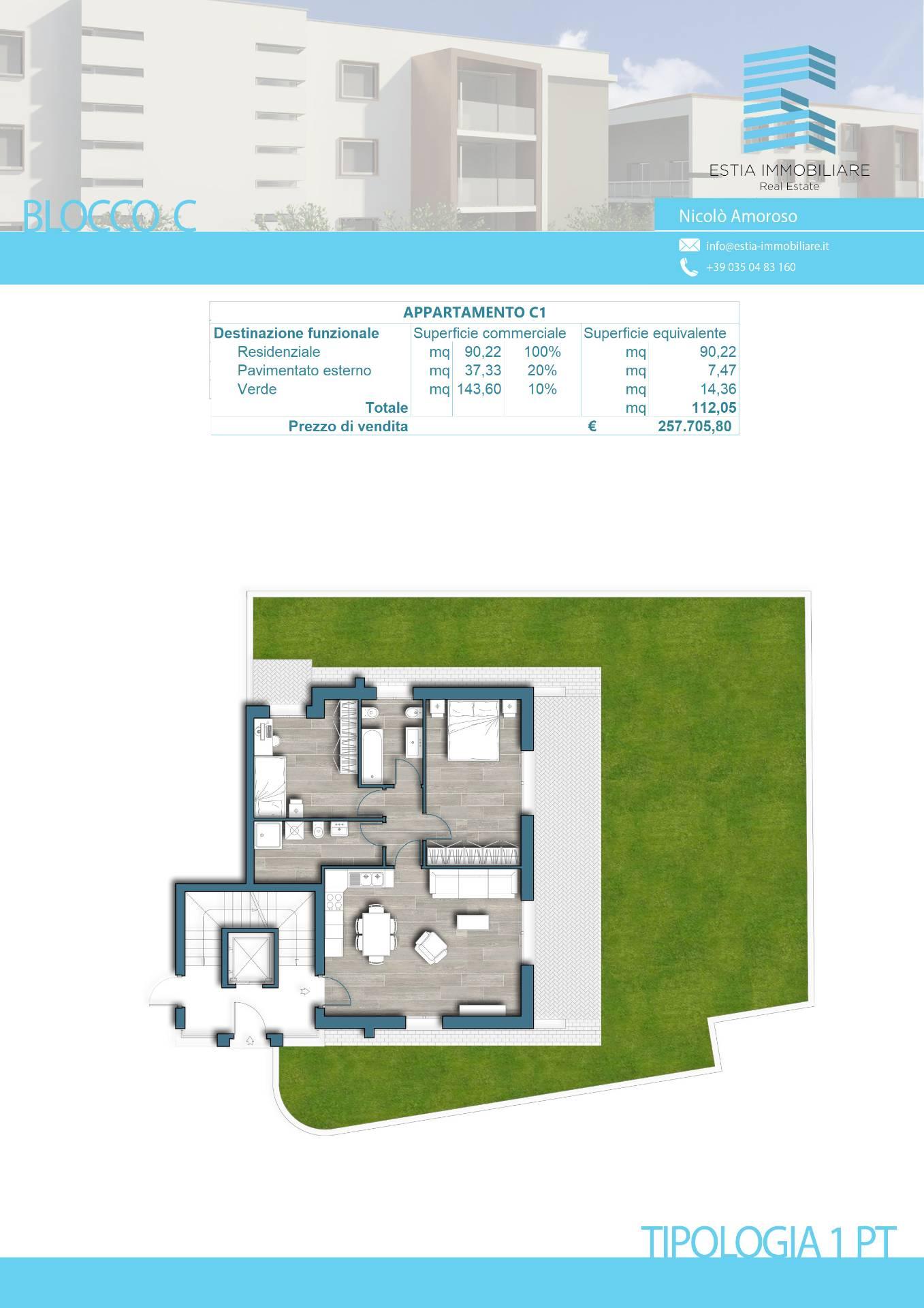 Appartamento in vendita a Bergamo, 3 locali, zona na, prezzo € 257.715 | PortaleAgenzieImmobiliari.it