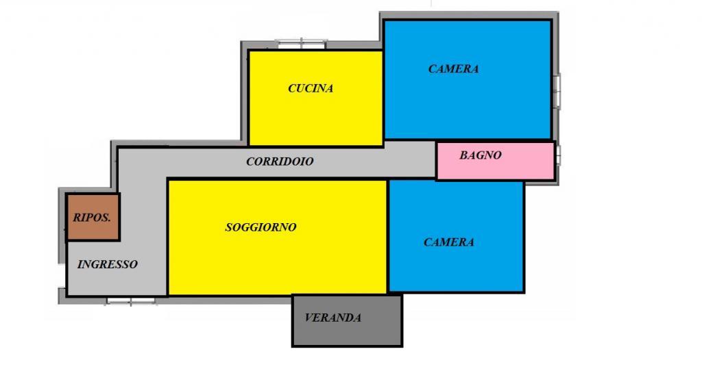 vendita appartamento cascina centro  115000 euro  4 locali  90 mq