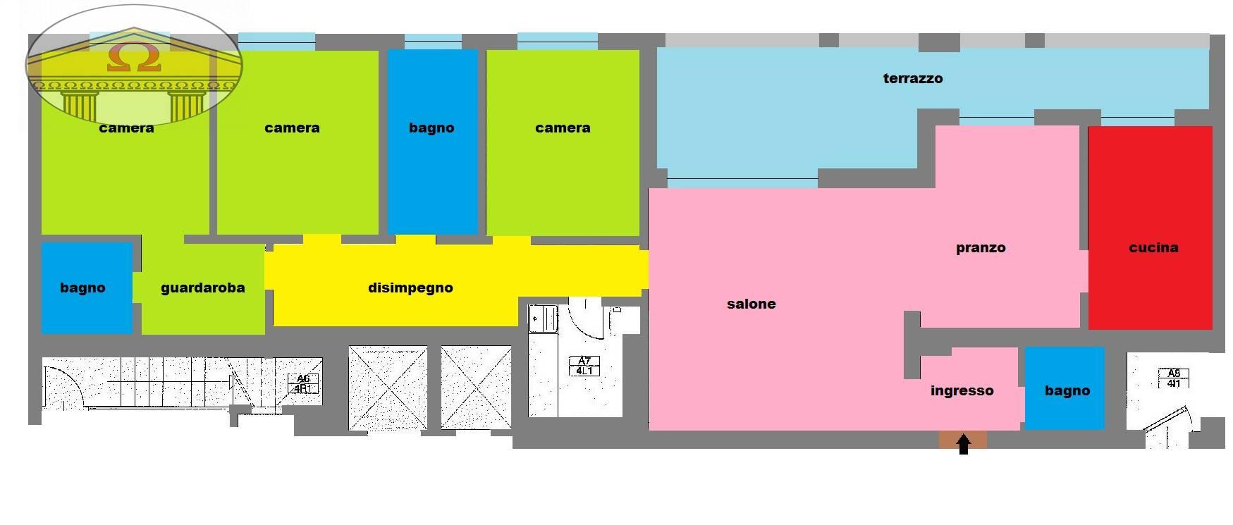 vendita appartamento treviso fuori mura  510000 euro  5 locali  186 mq