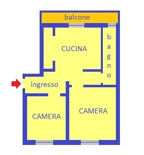vendita appartamento genova sestri ponente  57000 euro  5 locali  60 mq